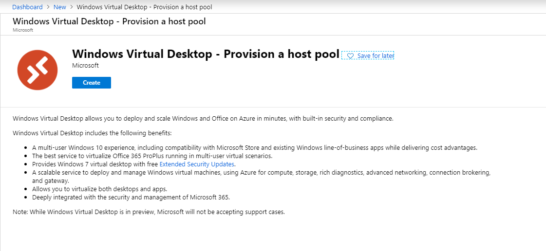 WVD Create hostpool