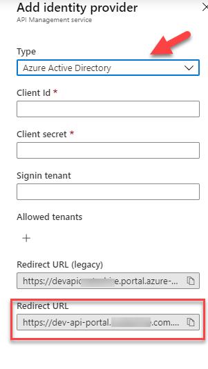 Redirect URL